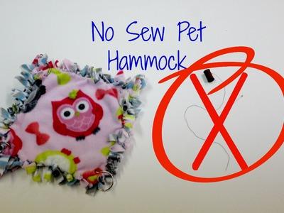 DIY No Sew Pet Hammock
