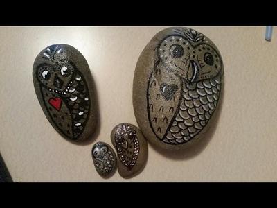 DIY Owl Garden Stones - Easy to Make