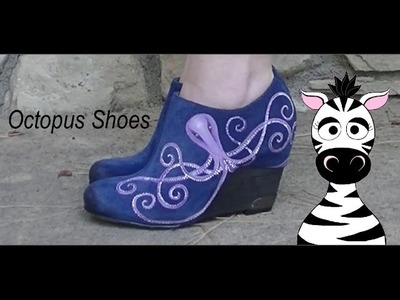 DIY Painting Octopus Shoes With Acrylic Paint