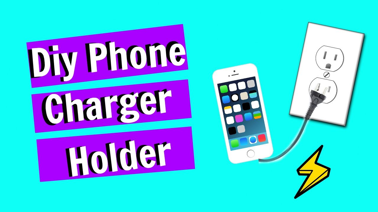 DIY Phone Charger Holder - Duct Tape DIY