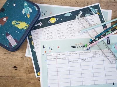 DIY: Printable timetable by Søstrene Grene