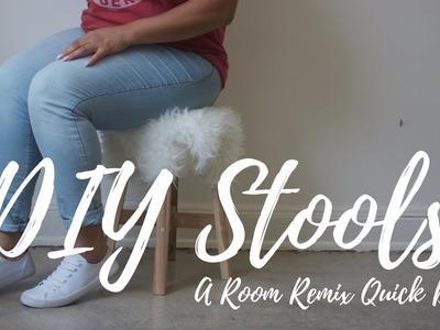 DIY Quickie: Faux Fur Decorative Stools || ROOM REMIX QUICK DRY