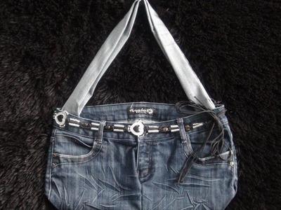 DIY: Recycle Old Jeans Into a Purse or Handbag - No Sew