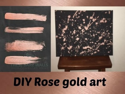 DIY | ROSE GOLD SPLASH ART | HOME DECOR USING EYESHADOW!!!!