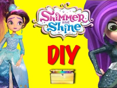 SHIMMER AND SHINE Toys DIY ZETA DOLL Bad Genie Sorceress From Shimmer and Shine Season 2 Video