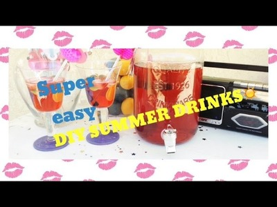 Super easy DIY summer drinks | SHANY monroy