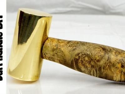 Brass Hammer with burl handle:  DIY BUILD