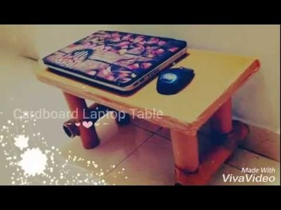 Cardboard Laptop Table DIY Project less than $1