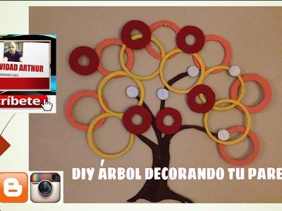 DIY árbol decorando tu pared DIY TREE DECORATING WALL