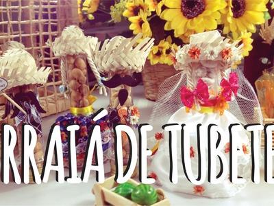 DIY - Arraiá de Tubetes - Festa Junina