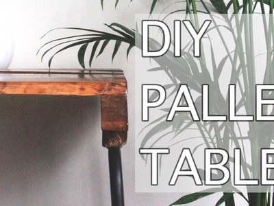 DIY Coffee Table using a Wooden Pallet!