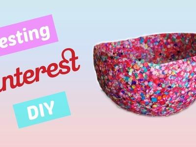 DIY Confetti Bowl - Testing Pinterest DIY #2