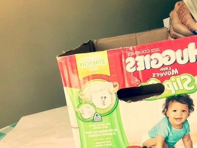 DIY Diaper box into a storage box