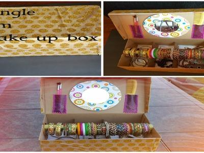 DIY-Easy Bangle cum make up box |Jewelry box with mirror