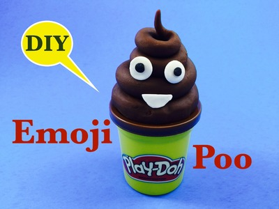 DIY EMOJI POOP- how to make play doh poo emoji by Boogie Kids