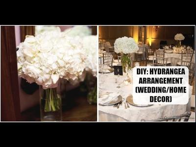 DIY: Hydrangea Flower Arrangement (Home Decor | Wedding DIY)
