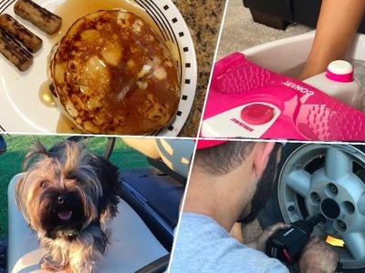 Homemade Pancake Recipe | DIY Mani Pedi | Car Chats with Hubby | Page Danielle
