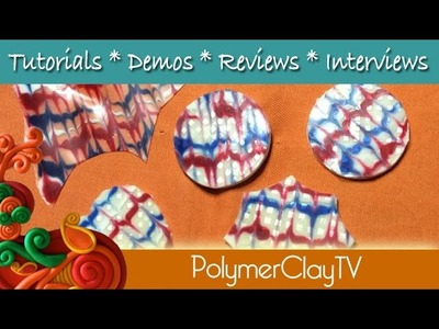 Liquid polymer Clay Ripple technique create layered glass like effects