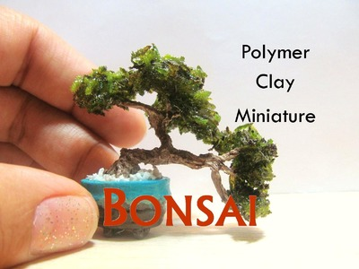 Miniature Bonsai Tree from Polymer Clay for a Dollhouse
