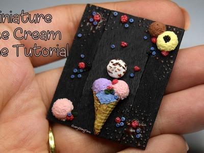 Miniature Ice Cream Cone Tutorial-Polymer Clay