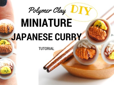 MINIATURE Polymer Clay Coco Curry, JAPANESE CURRY, I MISS JAPAN SERIES