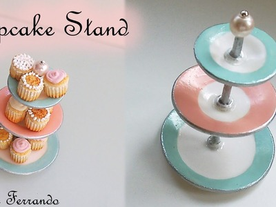 Miniature Polymer Clay FIMO Cupcake Stand TUTORIAL