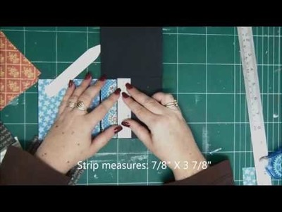 One Sheet of Paper Interactive Mini Album with Gaphic 45