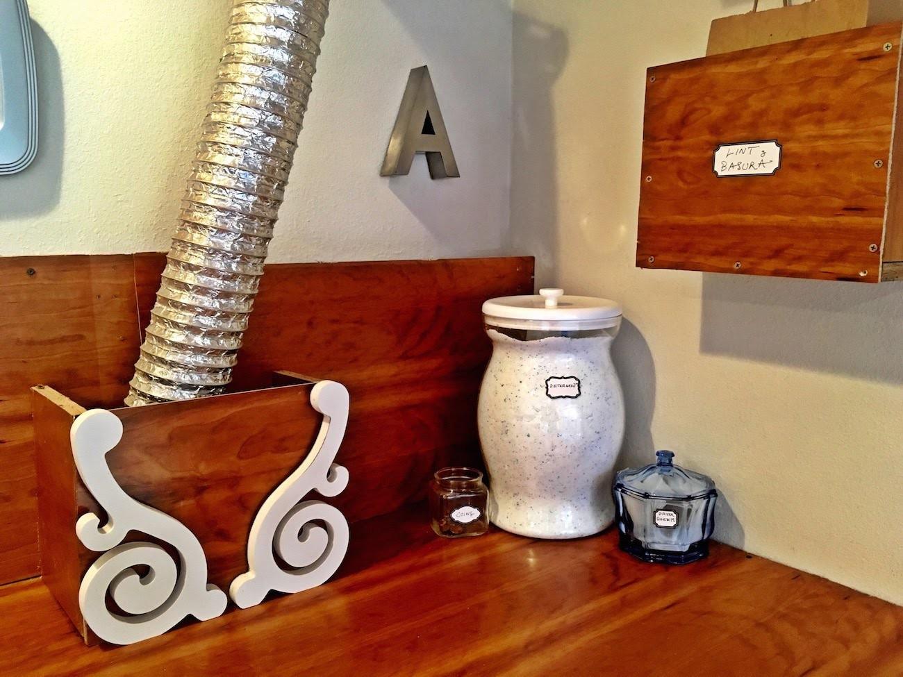 Pinterest-inspired DIY laundry room decor
