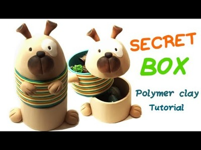 Polymer clay secret Dog box- Tutorial