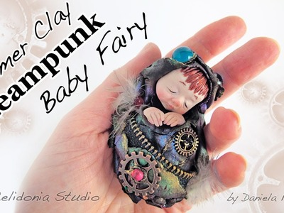 Polymer Clay Steampunk Baby Fairy