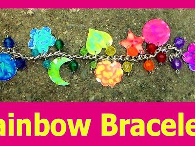 Rainbow Charm Bracelet Using Dies & Markers!