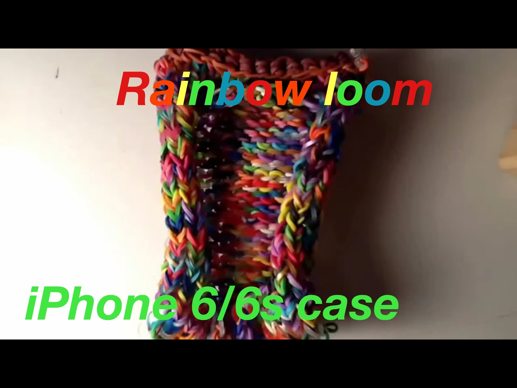 Rainbow loom iPhone 6 case one loom
