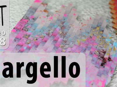 Scrap Polymer Clay Bargello Technique