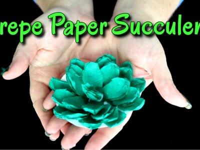 ASMR Craft | Crepe Paper Succulent | Cutting, Folding, Crinkling (silent, no talking)