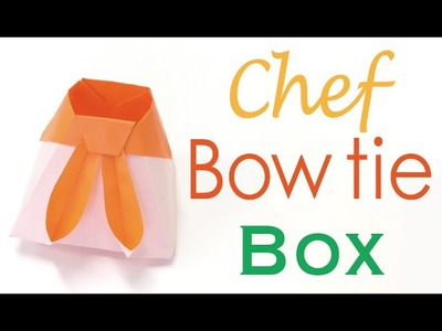 Chef Scarf (Ribbon Bow Tie) Paper Box - Origami Kawaii