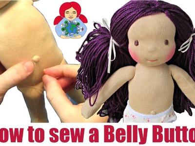 DIY | Belly Button Tutorial (Waldorf Dolls, Cloth Dolls) | Sami Doll Tutorials
