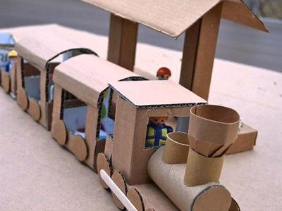 DIY Cardboard Trains For Kids Toy