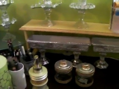 DIY-Dollar Tree Makeup Organizer and Jewelry Holder-Short Vanity Tour Pt.2 2016
