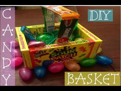 DIY EDIBLE CANDY BASKET (GREAT FOR EASTER. PARTY FAVORS)
