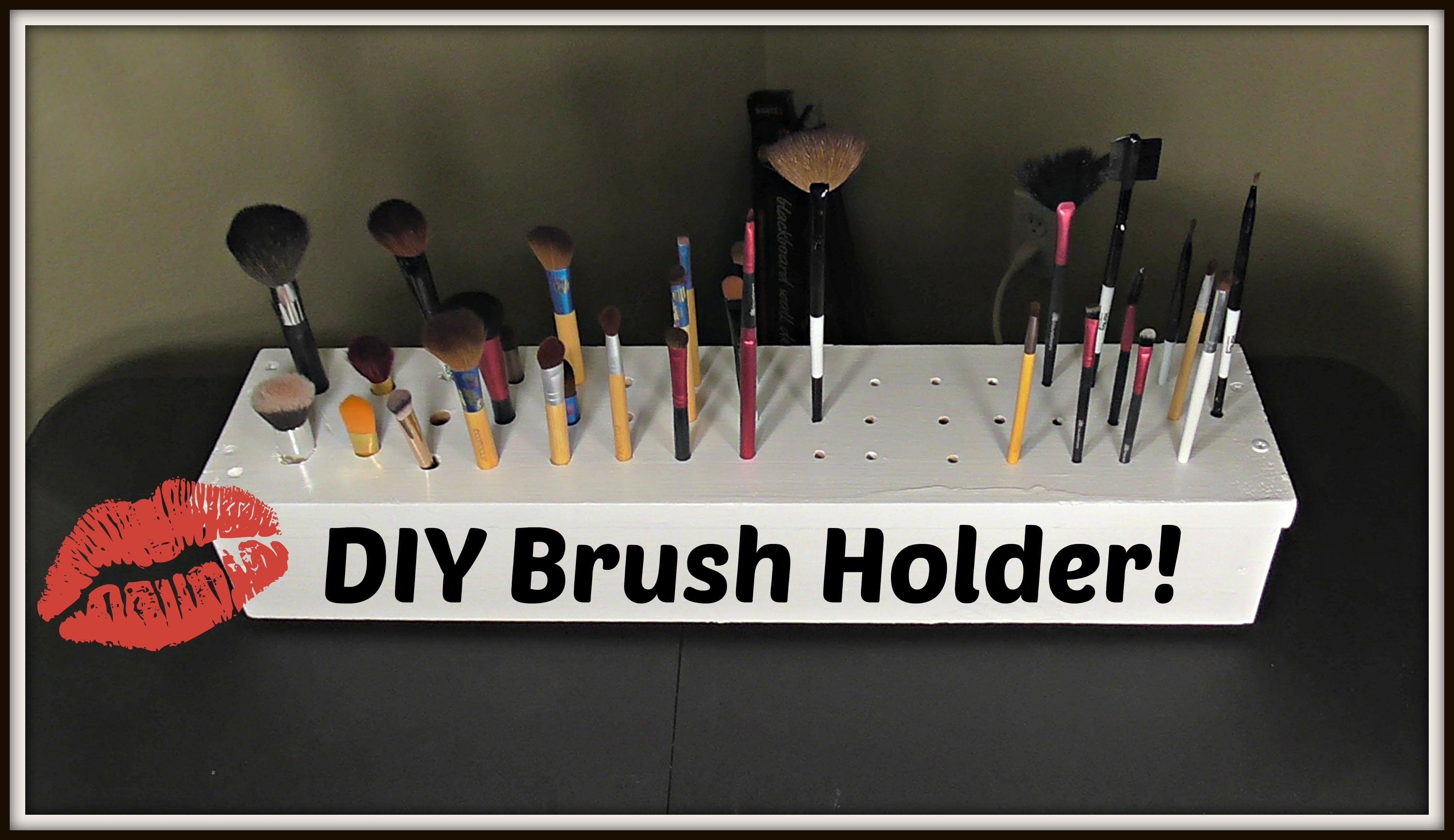 DIY Makeup Brush Holder| Collab With Life of a Mad Typer