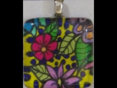DIY ║ Original Art ║ Glass Pendants ║ Tiffany Lovering