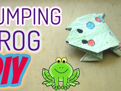 DIY - Paper Jumping Frog easy Origami Happy Toys for Kids