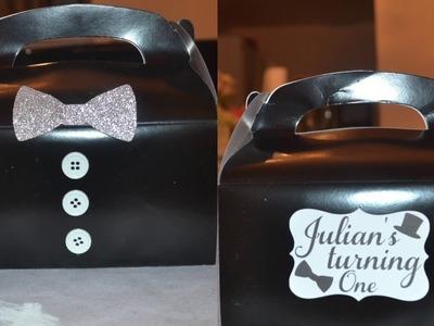 DIY PARTY BOXES  JULIAN TURNS 1 MINI-SERIES