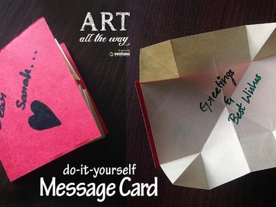 DIY: Pop Up Message Card