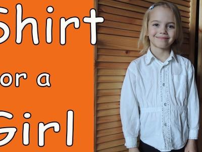 DIY Transfer boy's shirt into girl's shirt