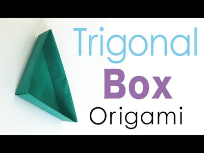 Easy Origami Triangular Paper Box - Origami Kawaii