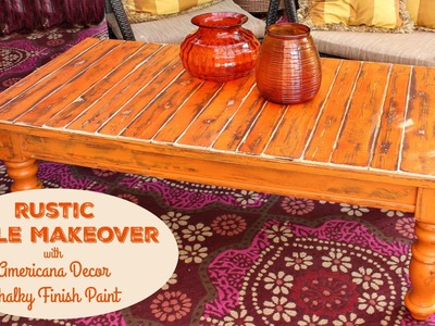 HOW TO: DIY Rustic Slat Table Makeover