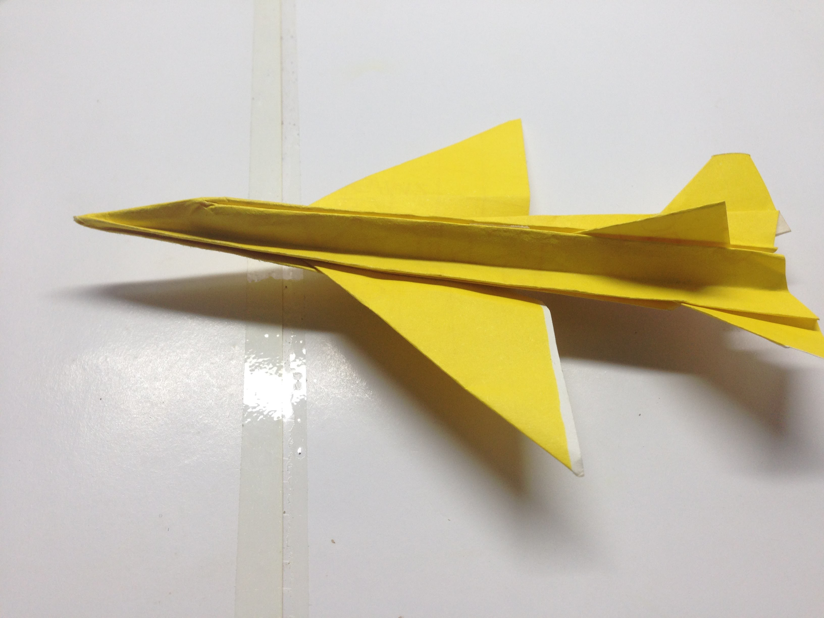 how to make a cool paper plane origami f16 flyable