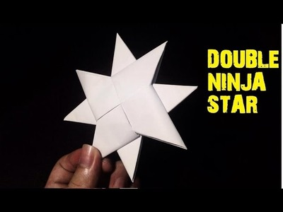 How To Make a Paper Double Ninja Star - Origami (Easiest Way)