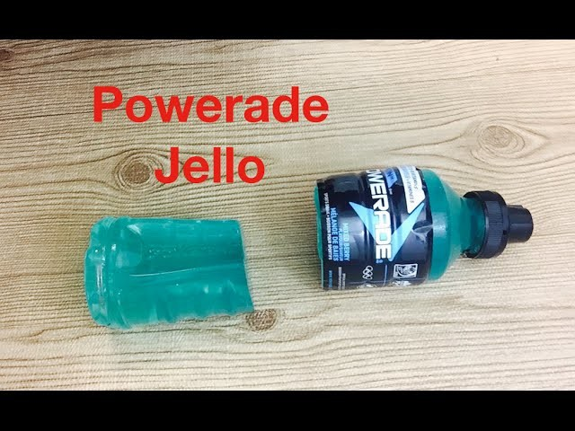 How to make powerade jello bottle easy DIY